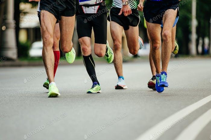 Gruppe Männer Läufer