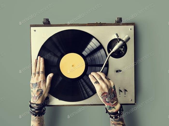 Wiedergabe von Sound Audio Musik Rhythm Art Melodie Konzept