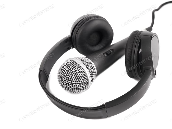 Wireless microphone and headphones