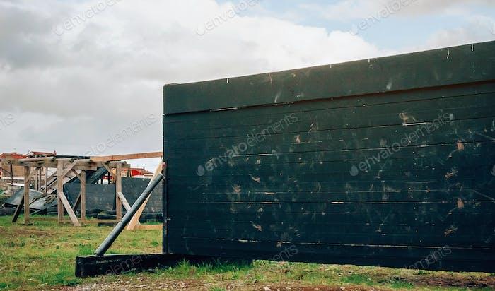 Деревянная стена для ocr