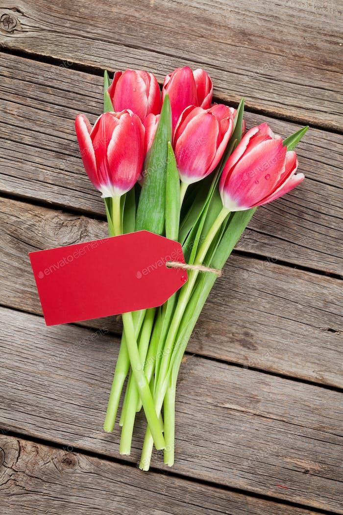 Rote Tulpen Blumenstrauß
