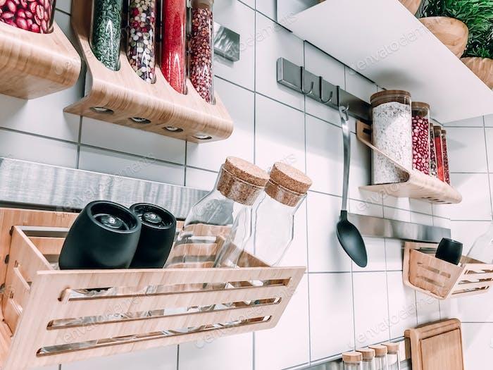 Scandinavian style kitchen wall