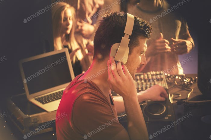 DJ at the party