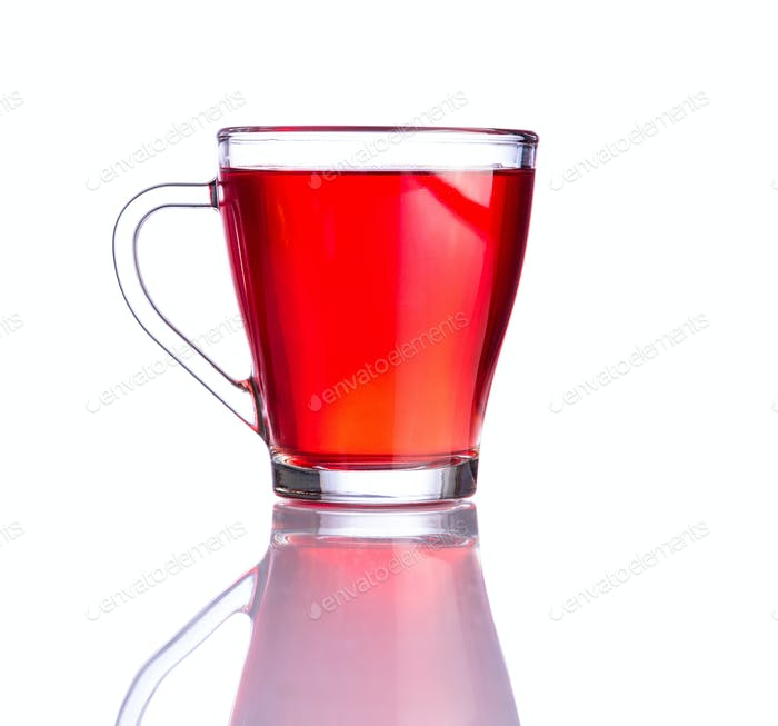 Red Tea Isolated on White Background