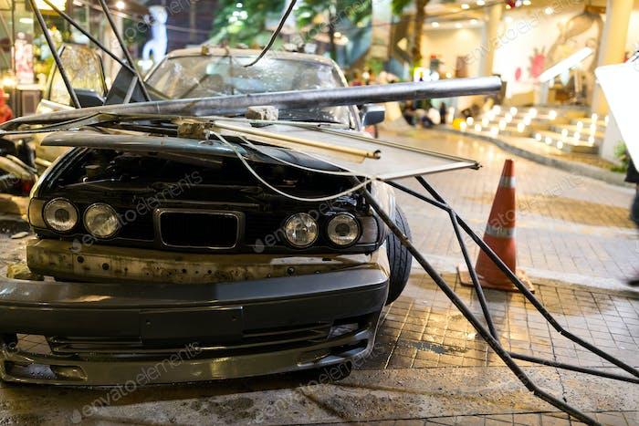 Unfall des Autounfalls auf der Straße