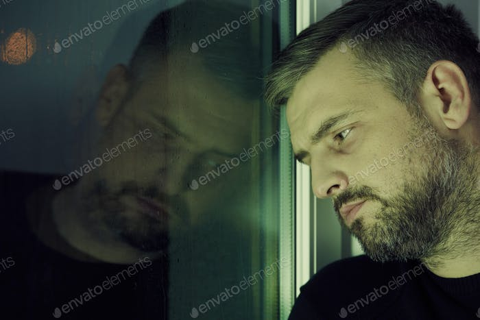 Man near the window