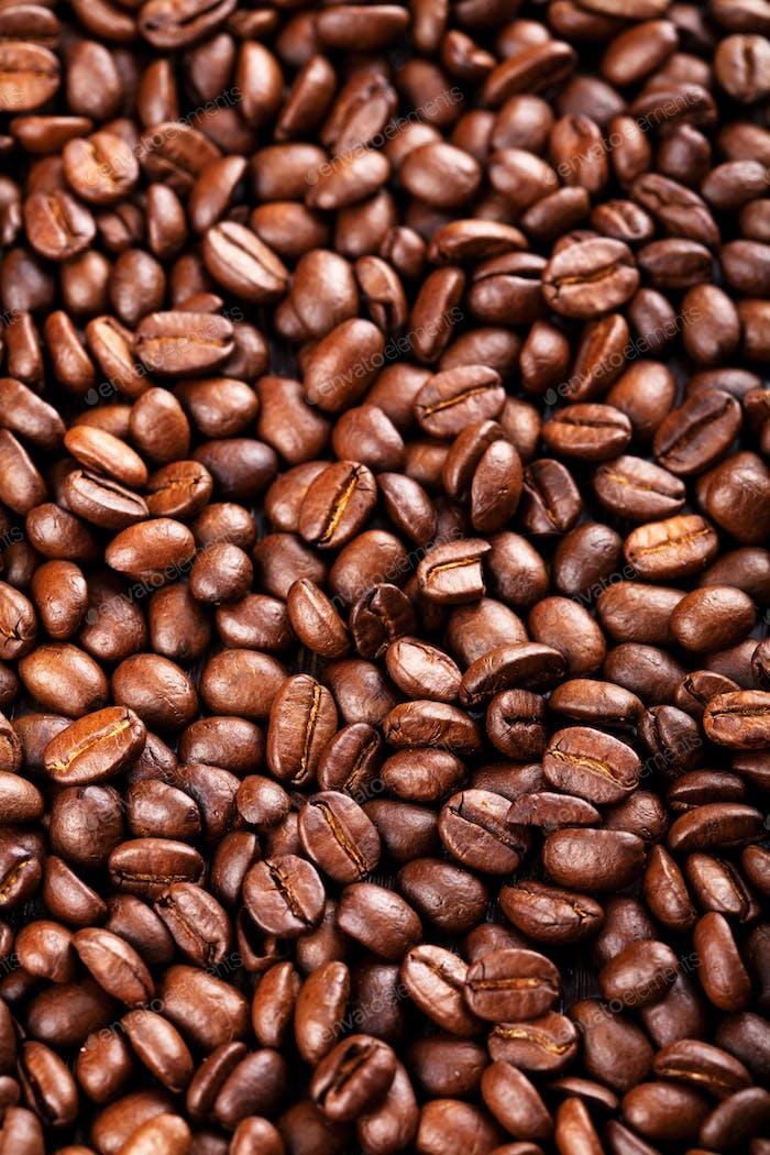 gerösteten Kaffeebohnen Hintergrund