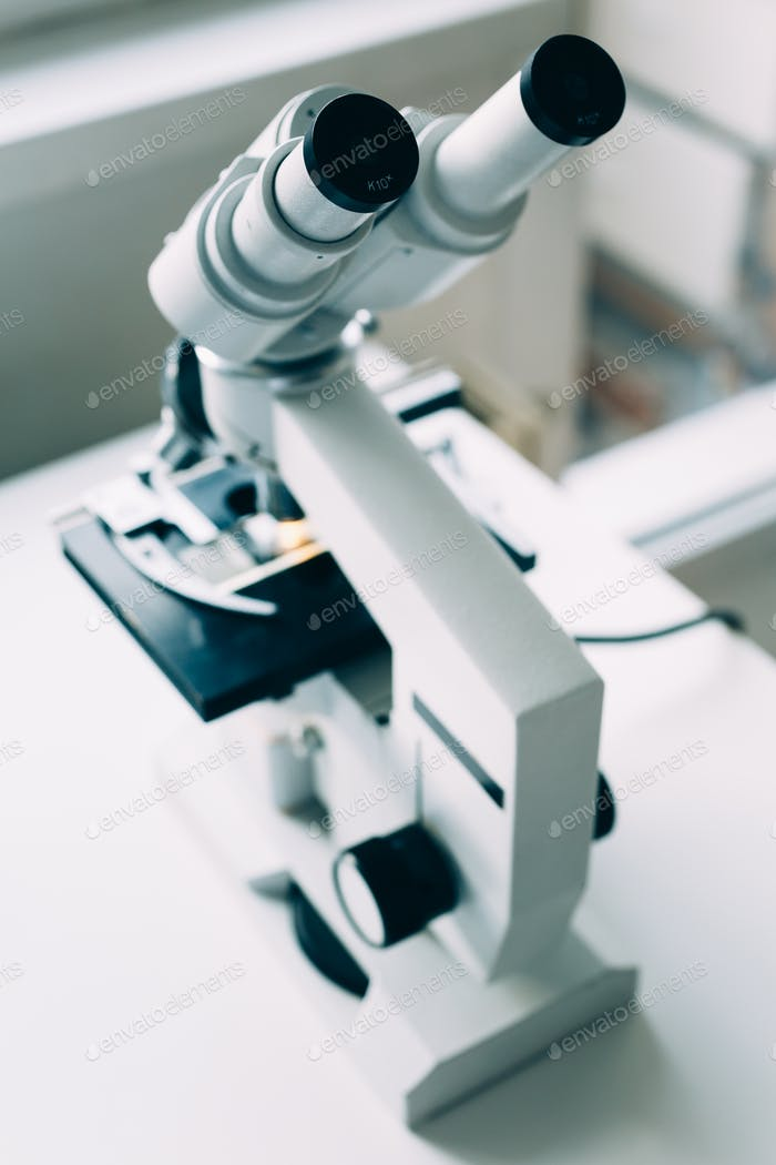 Microscope in Laboratory