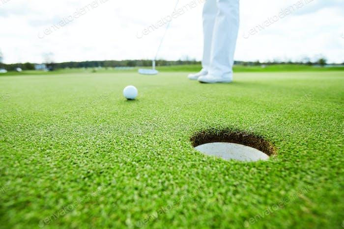 Hole for golf ball