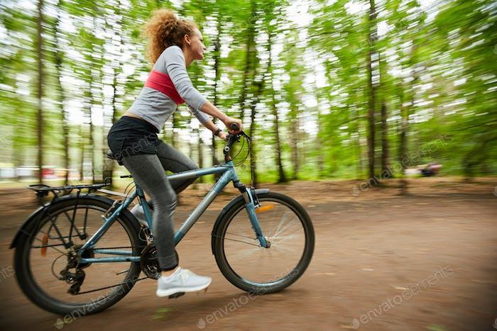Moving on bike