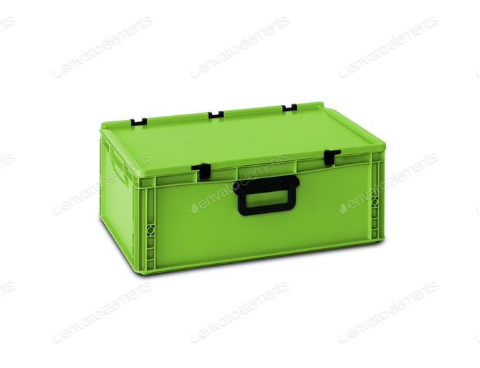 Green plastic box