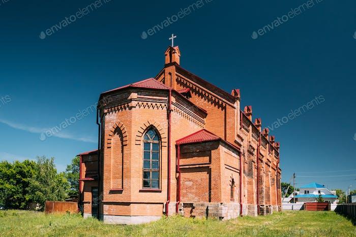 Rahachow, Belarus. Catholic Church Of Anthony Of Padua. It Is Hi