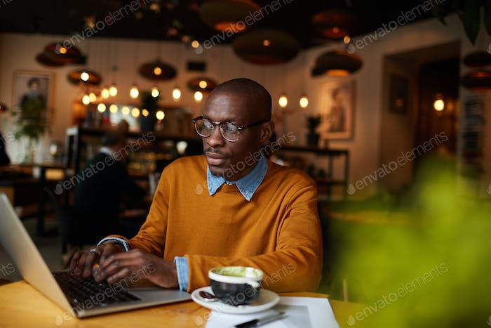 Blogger in Coffee Shop