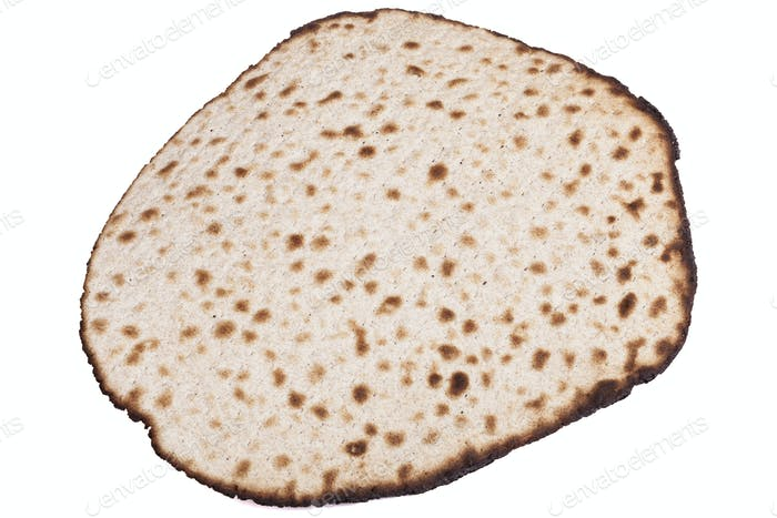 Round Matza on White