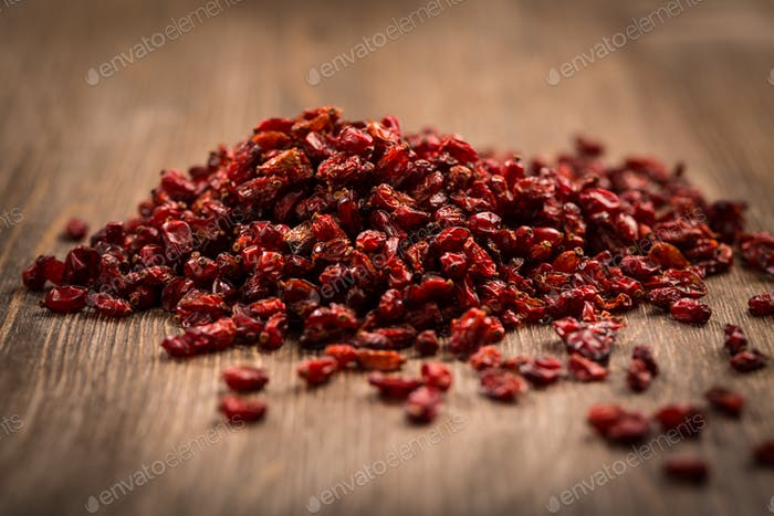 Dried berberis