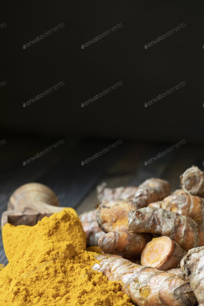 Scoop of Turmeric Powder