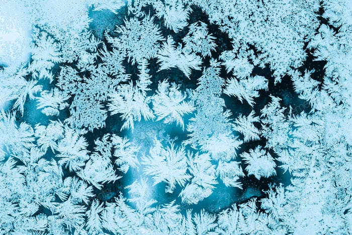 Frosty Glass Ice Background, Natural Pattern. Winter Abstract Ba