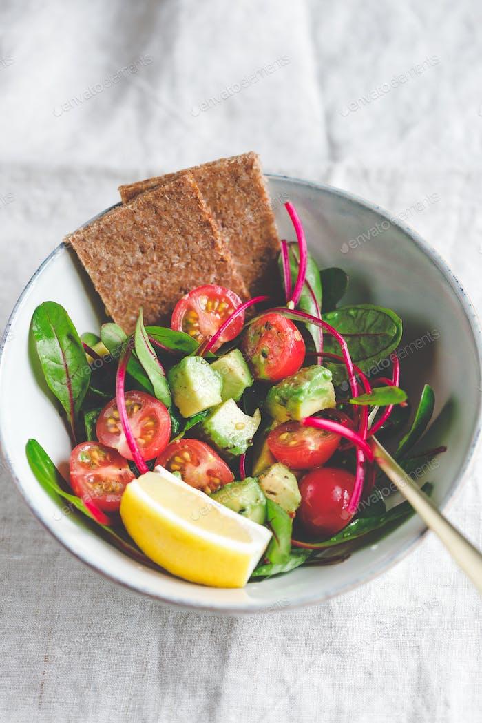 Vegetarian healthy salad