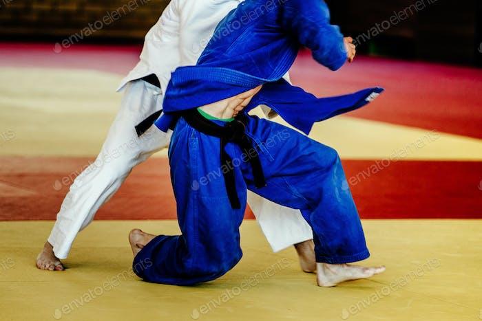 two men wrestlers judoka