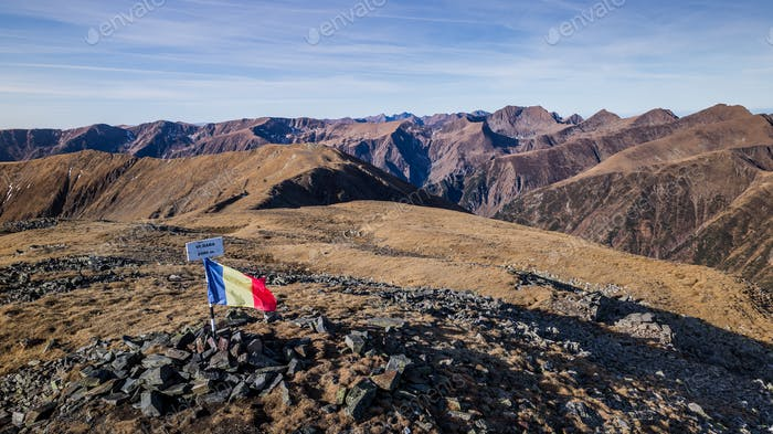 The Dara Peak in Fagaras Mountains
