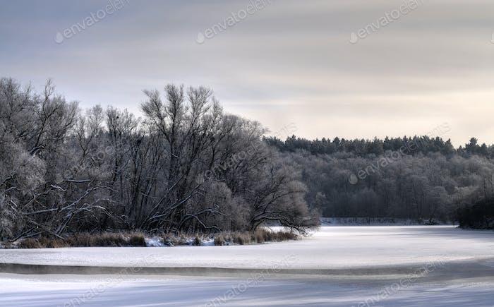 Mystical mesmerizing winter landscape