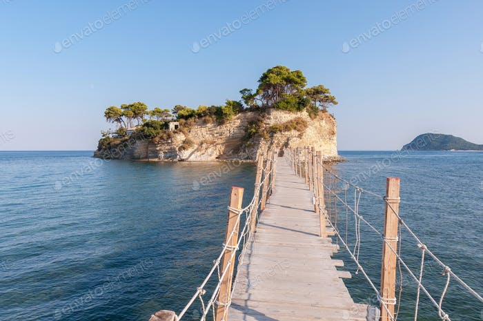 Bridge to Cameo Island, Zakynthos, Greece