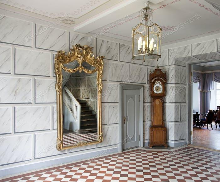 52395,Elegant Manor Hallway