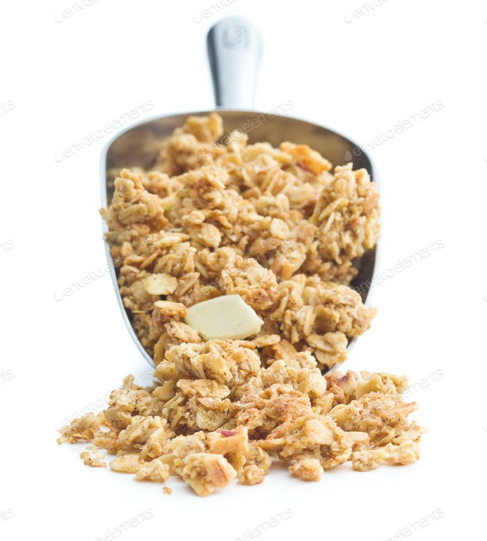 The granola breakfast cereals.