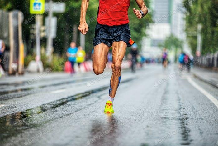 perfekte Beine Läufer Athlet Mann laufen