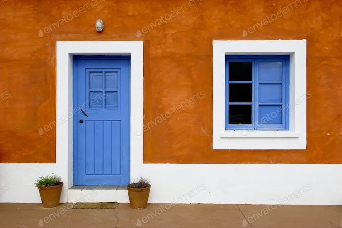 Blue window and door