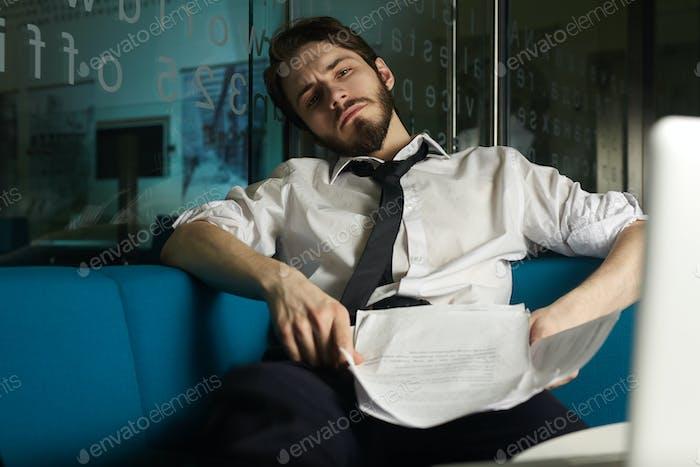 Overworked banker