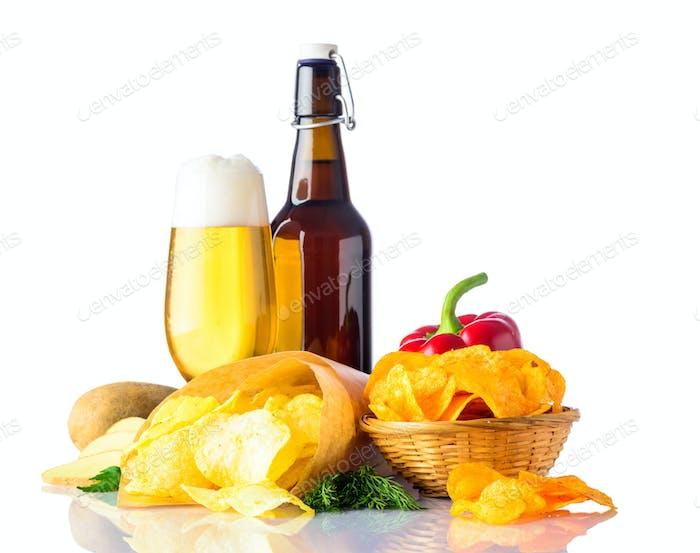 Bier und Junk-Food