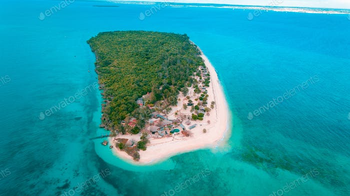 aerial view of the bawe island, Zanzibar