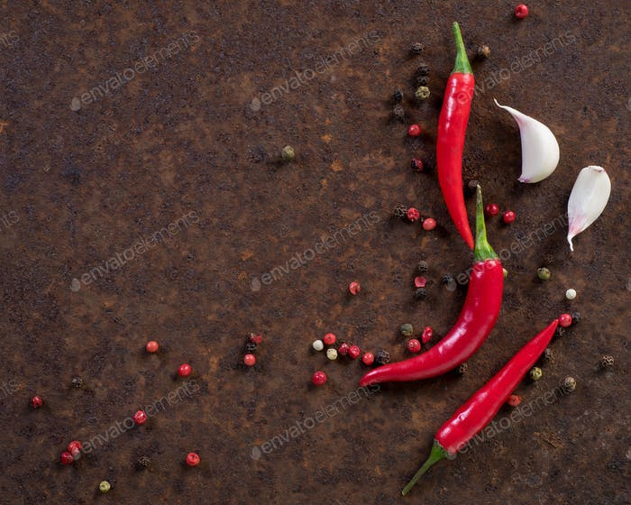 red hot chili pepper pods