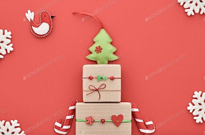 Christmas background decoration. Design Handmade