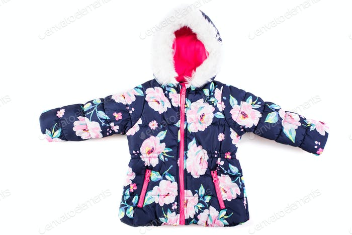 Stylish children's jacket on a white background