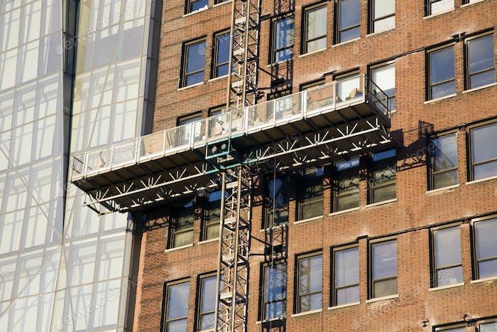 Platform for high building work