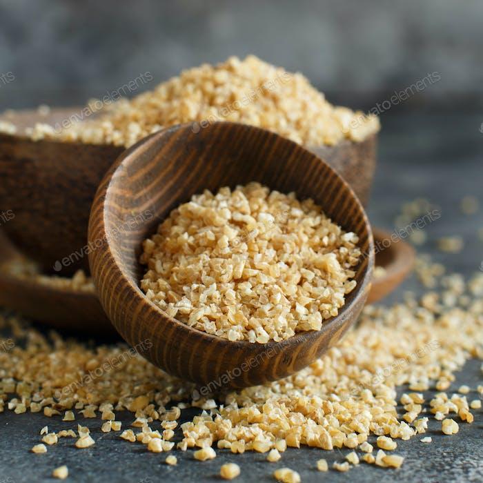 Thumbnail for Dry bulgur wheat grains