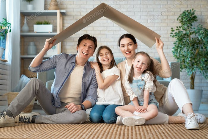 Concept of housing for young family.