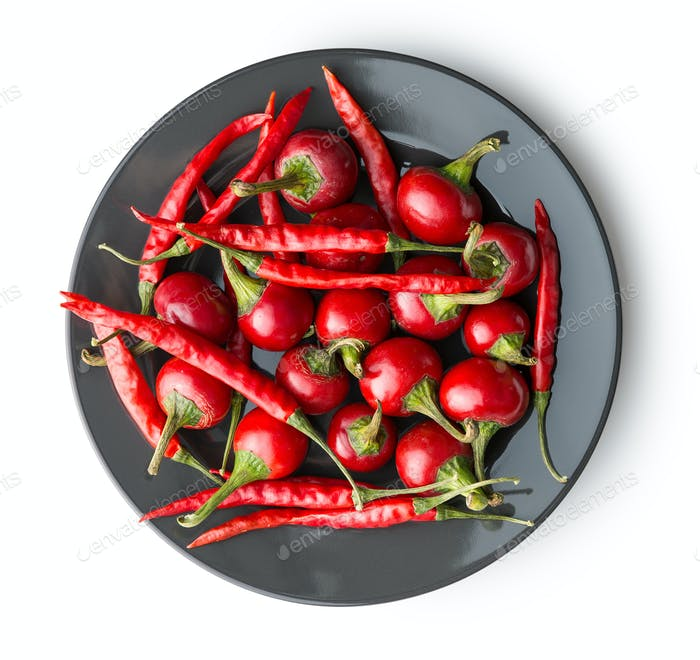 Red chili peppers.