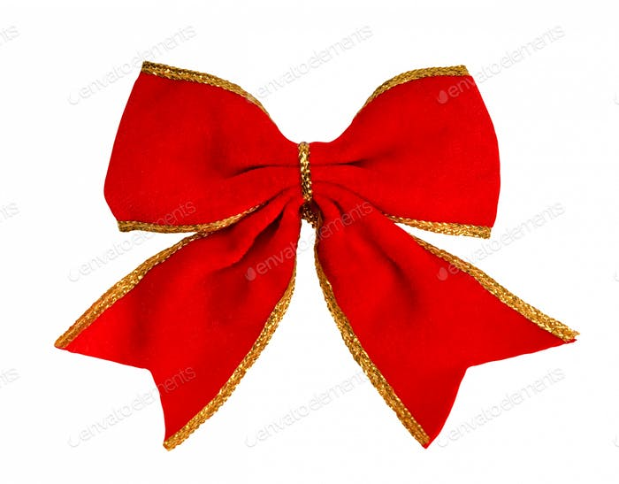 red bow, isolated on white background