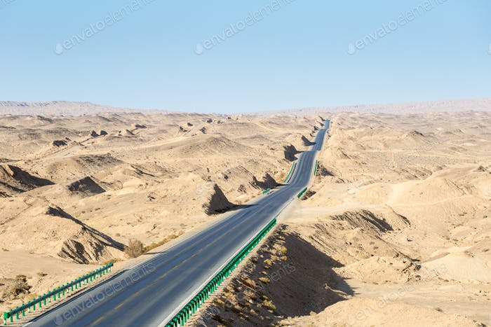 wavy road in qinghai