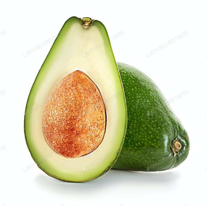 Avocados isoliert