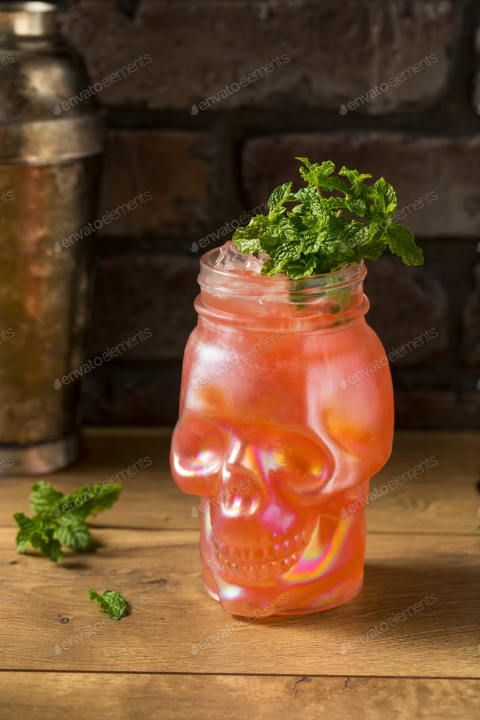 Refreshing Boozy Zombie Tiki Cocktail