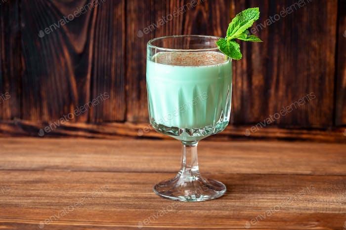 Glass of Grasshopper Cocktail