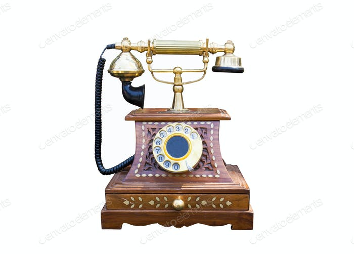 Vintage gold telephone