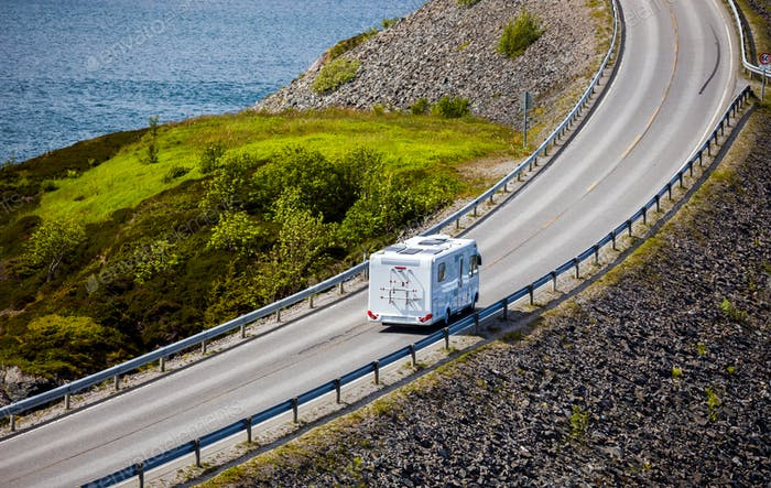 Atlantic Ocean Road Caravan car.
