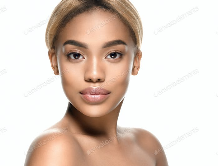 Beauty afro american female beautiful skincare
