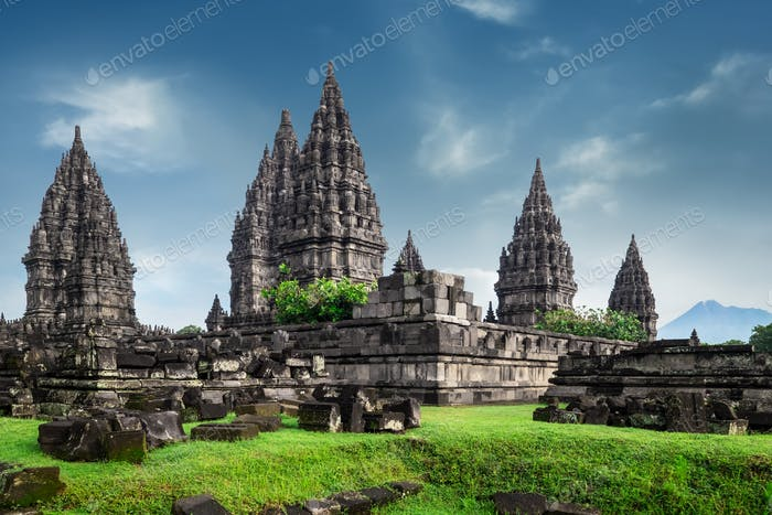 Prambanan lHindu temple ruins. Java, Indonesia.