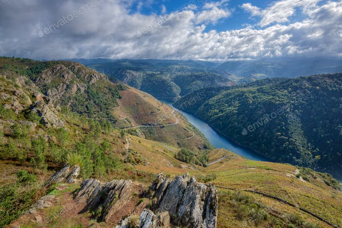 Majestic landscape of the Ribeira Sacra